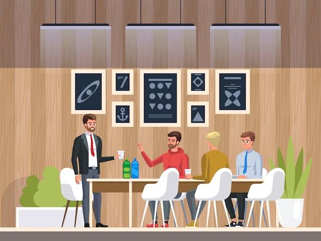 Centro de coworking de escritório criativo