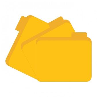 Centro de dados de arquivos amarelo relacionado