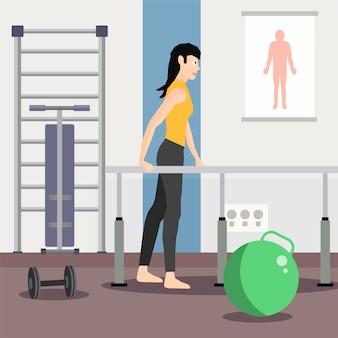 Centro de reabilitação e anúncio de fisioterapia para atletas