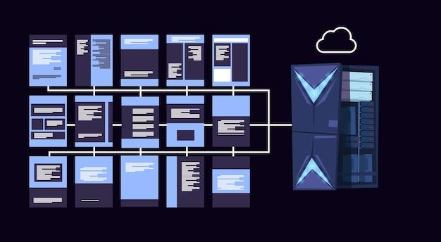 Centro de servidores de nuvem de proteção de dados