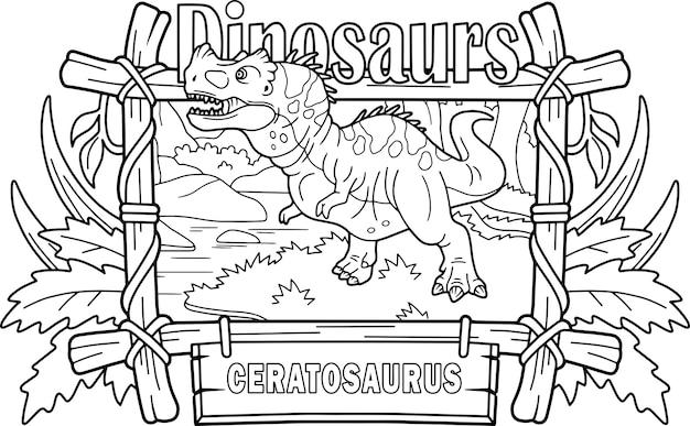 Ceratossauro de dinossauro