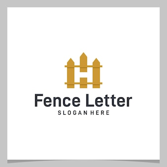 Cerca de design de logotipo de inspiração com a letra h inicial do logotipo. vetor premium