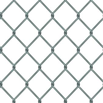 Cerca de padrão sem emenda de grade de metal realista com rabitz