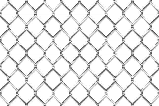 Cerca realista da ligação chain de metal
