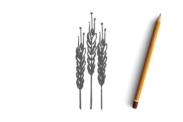 Cereais para colheita de grãos de trigo