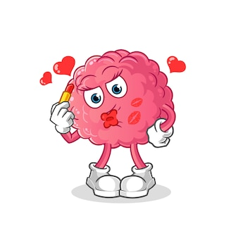 Cérebro compõe o mascote. desenho animado