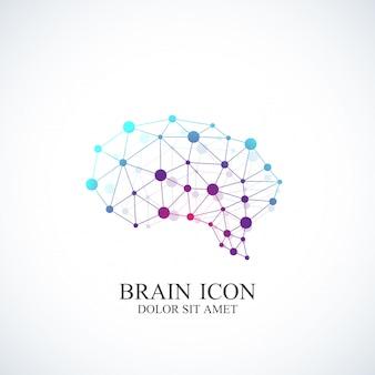Cérebro de modelo colorido. conceito criativo