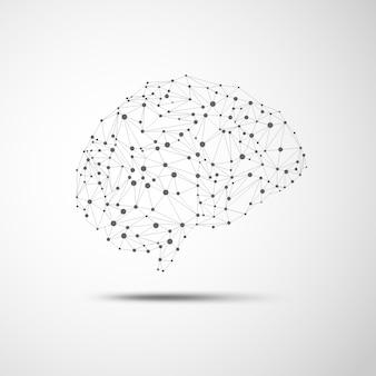 Cérebro de wireframe