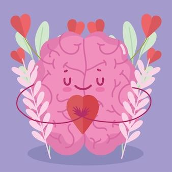 Cérebro fofo apaixonado