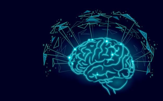 Cérebro humano ativo inteligência artificial próximo nível habilidades menthal homem