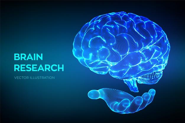 Cérebro. pesquisa do cérebro humano. rede neural. teste de qi, inteligência artificial, tecnologia de ciência de emulação virtual.