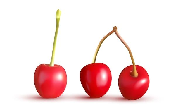 Cerejas vermelhas isoladas