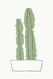 Cereus cactus vector doodle desenhado à mão