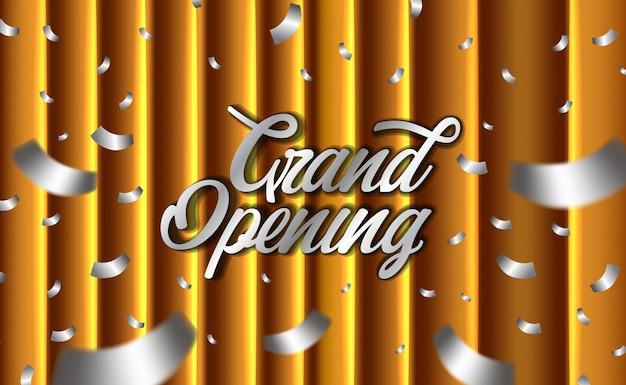 Cerimônia de abertura dourada com cortina dourada