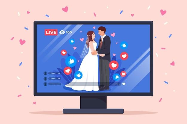 Cerimônia de casamento online