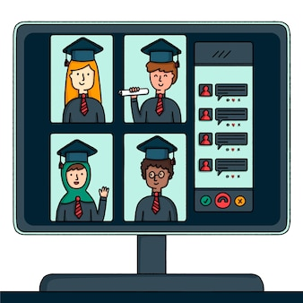 Cerimônia de formatura virtual