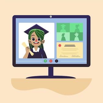 Cerimônia de graduação on-line