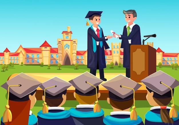 Cerimônia de graduação universitária