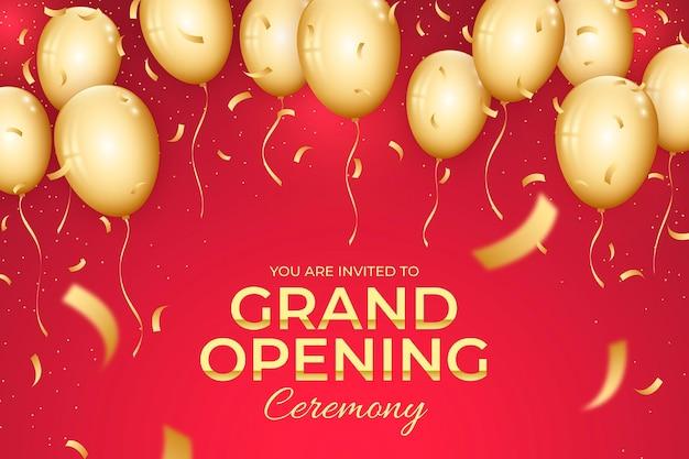 Cerimônia de inauguração com balões