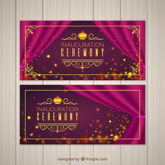 Cerimônia de inauguração com estilo elegante