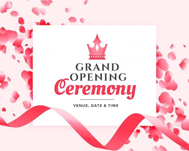 Cerimônia de inauguração design de celebração