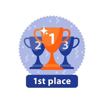 Cerimônia de premiação, prêmio de primeiro lugar, grande realização, melhor desempenho, final da competição