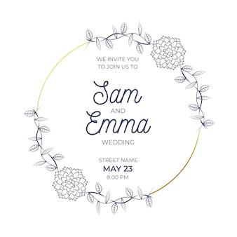 Cerimônia de quadro floral de casamento