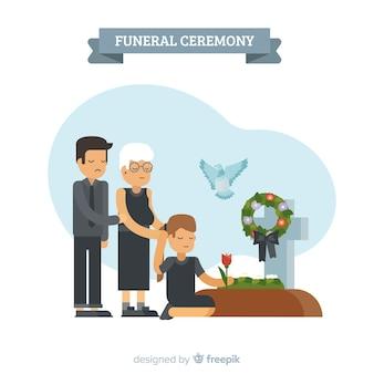 Cerimônia fúnebre Vetor grátis