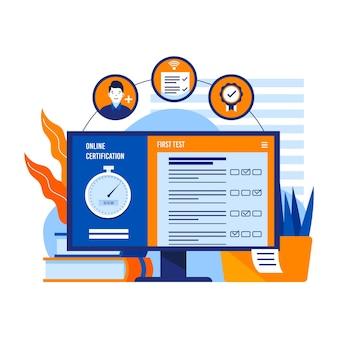 Certificação online com computador