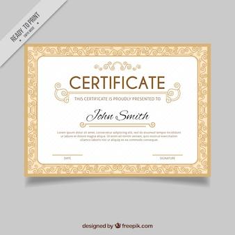 Certificado clássico elegante