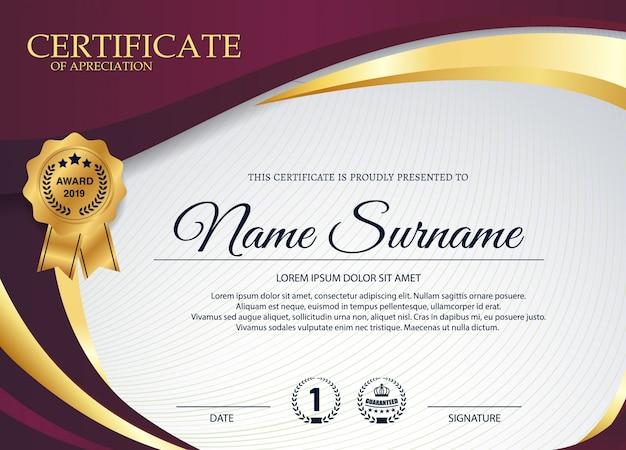 Certificado criativo de modelo de prêmio de agradecimento