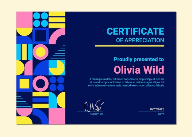 Certificado de apartamento moderno
