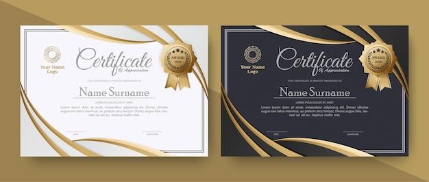 Certificado de apreciação do melhor conjunto de diploma de prêmio