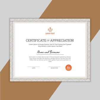 Certificado de apreciação template