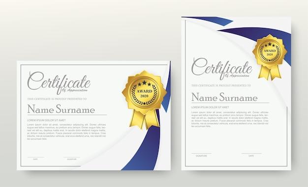 Certificado de associação do melhor conjunto de diploma de prêmio.