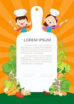 Certificado de aula de culinária para crianças