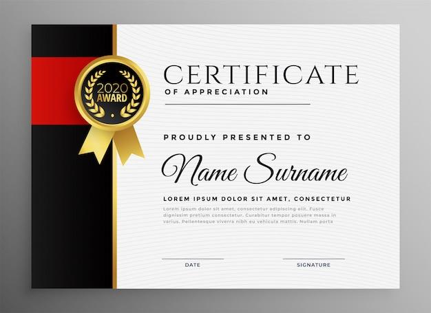 Certificado de conquista com distintivo