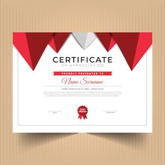 Certificado de conquista com formas abstratas