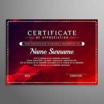 Certificado de design elegante abstrato aquarela