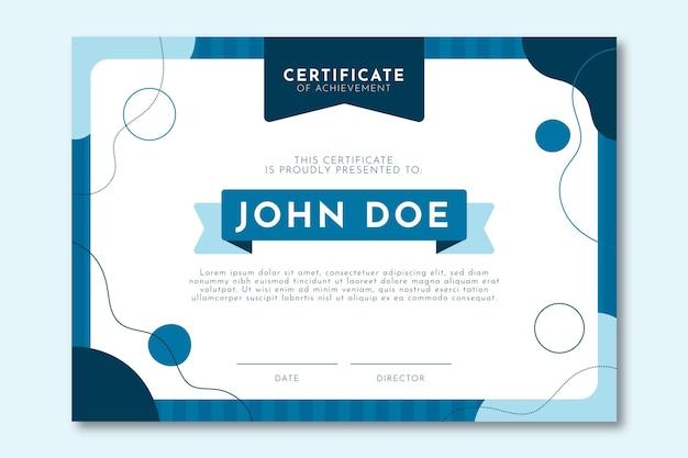 Certificado de design plano moderno