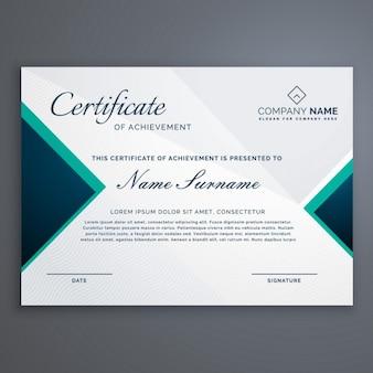Certificado de diploma com padrão moderno