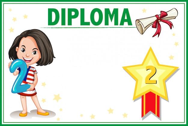 Certificado de diploma de grau dois