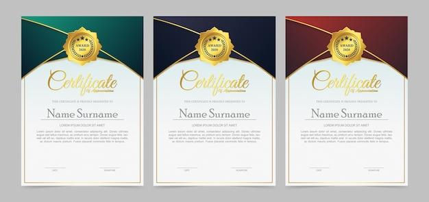 Certificado de filiação do melhor conjunto de diploma