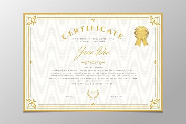 Certificado de gravura ornamental