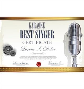 Certificado de karaokê