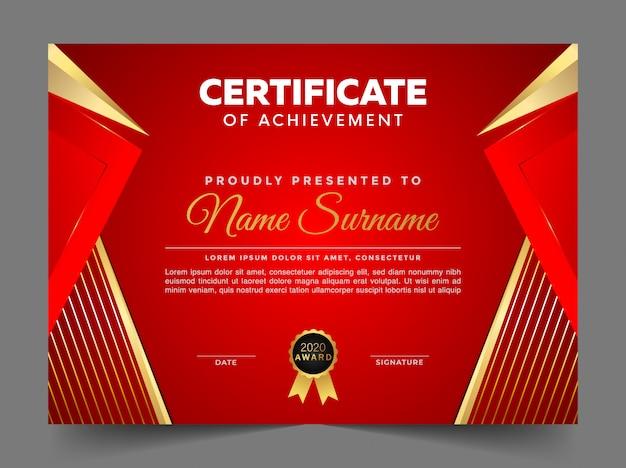 Certificado de modelo de design de agradecimento