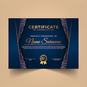 Certificado de modelo de design de apreciação