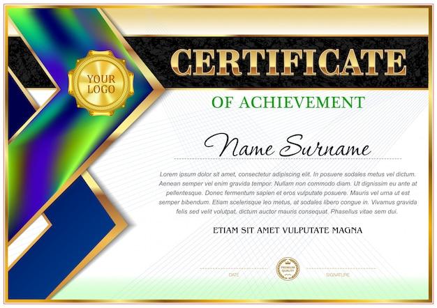 Certificado de modelo de emprego.