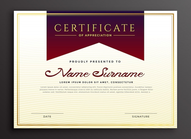 Certificado de modelo de negócio de apreciação