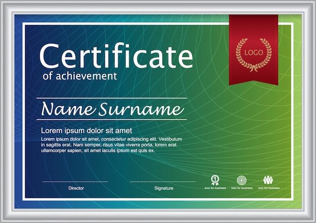Certificado de modelo de prêmio de agradecimento.